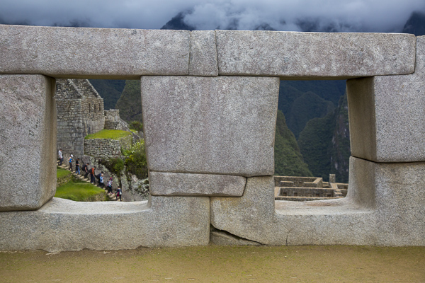 Perhaps one of the things that surprised me most was the fact that even though many of the stone blocks that make up Machu Pichu's structures are massive--perhaps 50 tons or more--they are precisely cut (or sculpted?) and fit together almost perfectly without cement or mortar.  These stones were of course cut long before the invention of machinery.