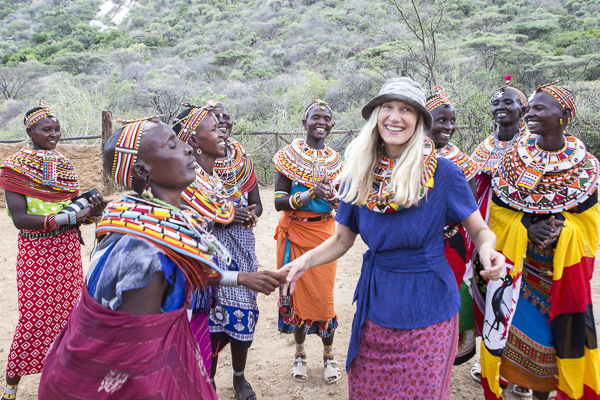 This is one of my favorite candid moments workshop student, Maria Letiwa, shot during the first day of our workshop. So rare that I'm on that side of the lens and she definitely captured the joy I felt learning how to dance Samburu style!